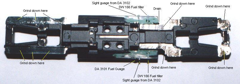 GP38 frame modifications