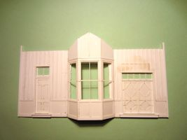 Campbell Depot Model Front Wall