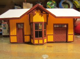 Campbell Depot Model Trim Painted